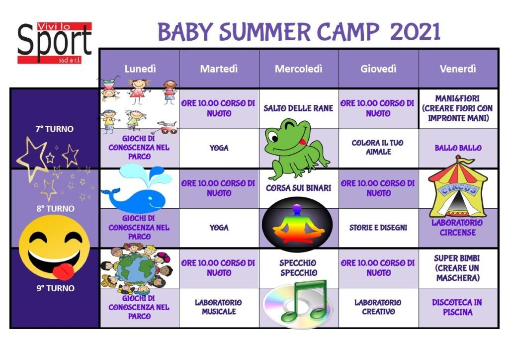 baby summer campn turni 7-8-9