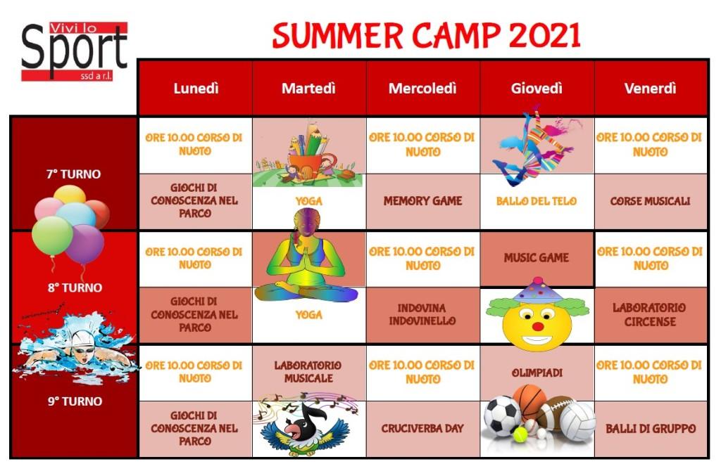 summer campn turni 7-8-9