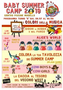 Programma BABY SUMMER CAMP (turno 08) 2019