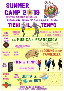 Programma SUMMER CAMP (turno 08) 2019