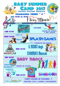 Programma BABY SUMMER CAMP (turno 04) 2017