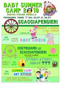 Programma BABY SUMMER CAMP (turno 07) 2019