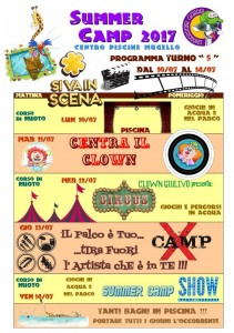 Programma SUMMER CAMP (turno 05) 2017