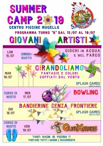 Programma SUMMER CAMP (turno 06) 2019