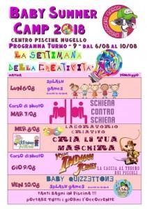 Programma BABY SUMMER CAMP (turno 09) 2018